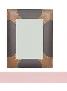 BROWN/TAN LEATHERETTE MIROR MOQ 1 Pcs