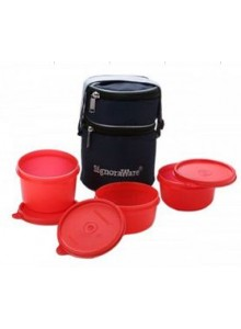 SIGNORAWARE OFFICER LUNCH BOX WITH BAG (BPA) FREE MOQ 50 Pcs