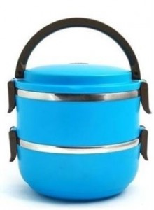 DOUBLE LYER LUNCH BOX MOQ 50 Pcs