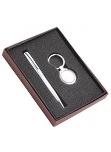 GIFT SET (SET OF 2 PCS) PEN AND KEY CHAIN MOQ 50 Pcs