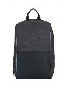 ANTITHEFT BACKPACK (GREY N BLACK) MOQ - 50 PCS