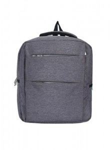 BACKPACK WITH SIDE POCKET IN GREY MOQ - 50 PCS