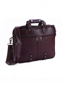 KKC NDM LEATHER BROWN LAPTOP BAG MOQ - 50 PCS