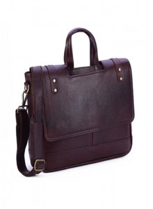 KKC NDM LEATHER BROWN LAPTOP BAG WITH FLAP, MOQ - 50 PCS