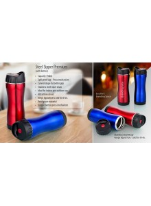 STEEL SIPPER PREMIUM WITH BUTTON MOQ 25 Pcs