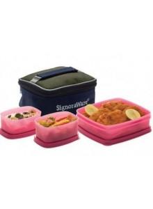 SIGNORAWARE HOT AND CUTE LUNCH BOX (BPA) FREE 550 ML CAPACITY MOQ 50 Pcs