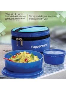TUPPERWARE CLASSIC LUNCH BOX  BLUE MOQ 50 Pcs