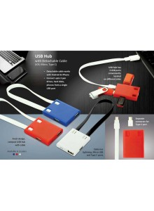 USB Hub with Detacable MOQ - 50 PCS
