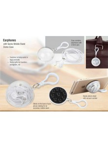 Ear Phone with Gecko Mobile Stand MOQ - 50 PCS