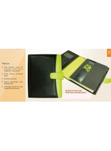 BLACK AND GREEN WITH THINK GREEN UNDATED DIARY B5 MOQ 50 Pcs