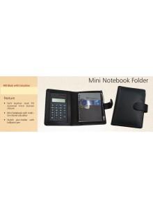 MINI NOTE BOOK FOLDER WITH CALCULATOR MOQ 50 Pcs