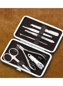 MANICURE SET WITH LEATHER BOX SMALL MOQ 25 Pcs